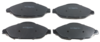 Pastilha de Freio ORIGINALLPARTS - CITROËN C4 / PEUGEOT 3008 / 308 / 408 - Dianteira - OSDA2311