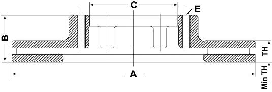 Par de Discos de Freio - FREMAX - Eixo Dianteiro -  Renault Master - BD6847 (Ventilado e Sem Cubo)