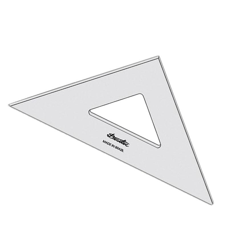 Esquadro Acrílico 37 Centímetros Trident Unitário - 2537