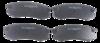 Pastilha de Freio ORIGINALLPARTS - MITSUBISHI Pajero Full / TOYOTA Hilux / Prado Land Cruiser - Eixo Traseiro - OSTA2811