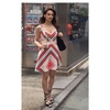 Vestido Zíper com Bojo Estampado Artsy - BL795MA - TAMANHO 36