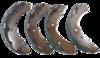 Jogo de Sapata de Freio com Lona - (marca Fras-Le) - GM S10 LS / LT / LTZ / MITSUBISHI L200 Triton HPE - (MI/370-CP)