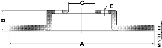 Par de Discos de Freio FREMAX - Eixo Traseiro - HYUNDAI Azera - BD5270 (Sólido e Sem Cubo)