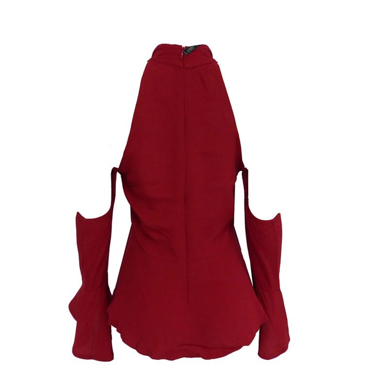 Blusa Gola Alta Viscose Vermelho Esmeral - 30021 - TAMANHO P
