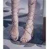 Sandália Feminina Gladiadora Spikes Castor Zatz - Z138610328 - TAMANHO 38