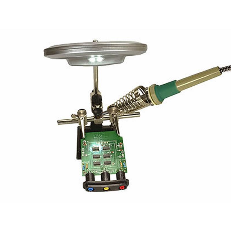 Suporte para Placas Eletrônicas com Lupa Solver - S21L203