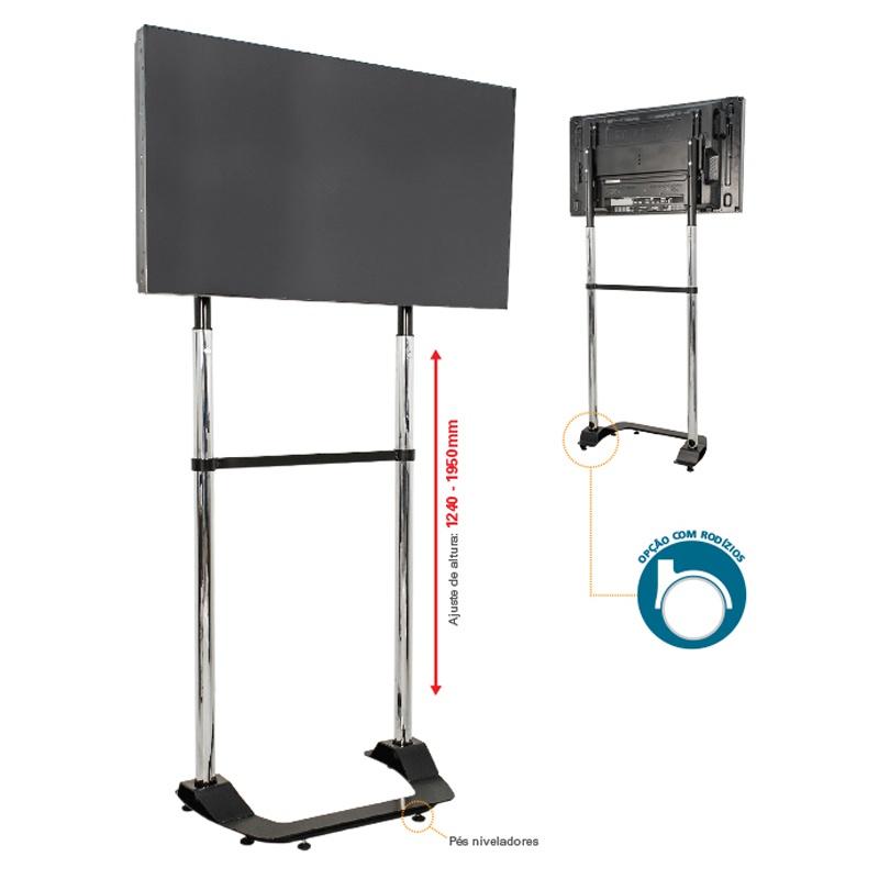 Suporte Pedestal para TV Lcd, Led e Plasma 32 a 60 Polegadas Multivisão - UNI-PRO-1K-PR