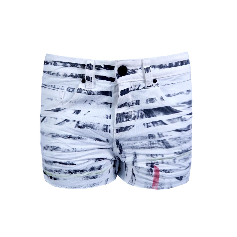 Short Jeans Riscado Spezzato