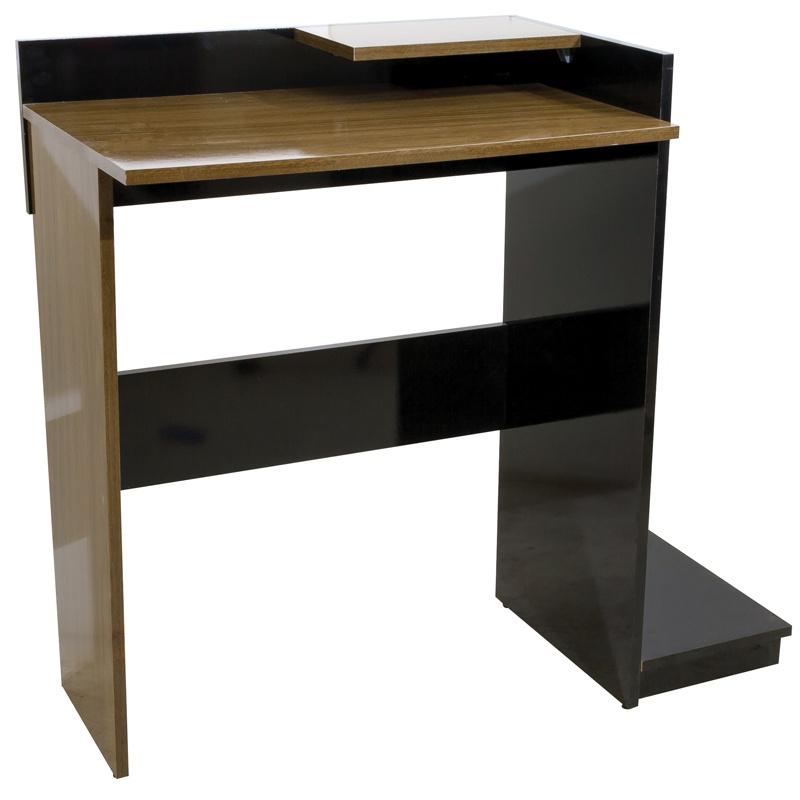 Mesa para Escritório Multivisão PLUS-NGPR Nogal/Preto