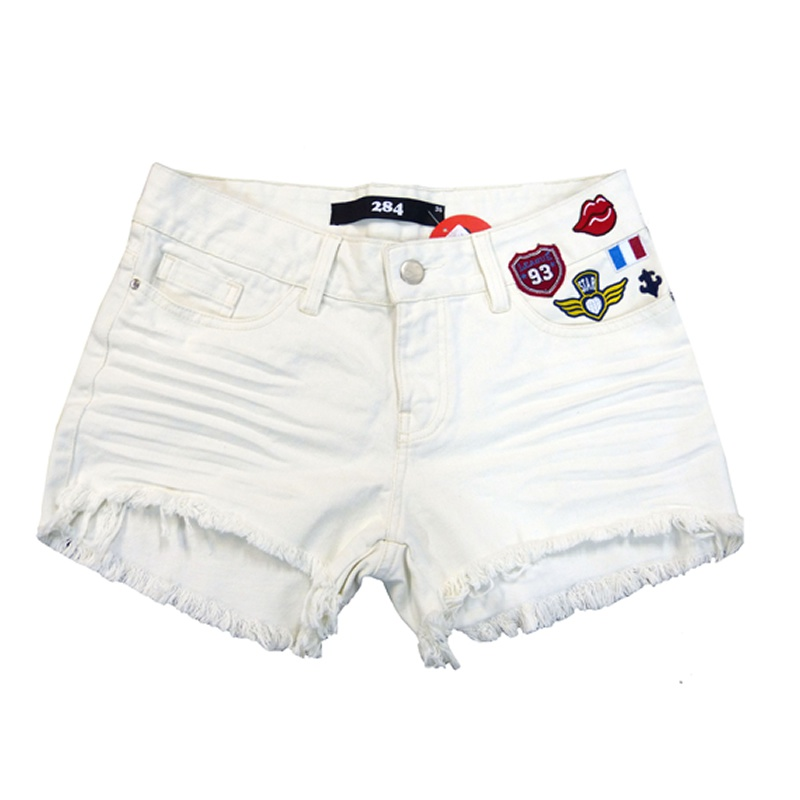 Short Destroyed com Patches Off White 284 - 01130450 - TAMANHO 40