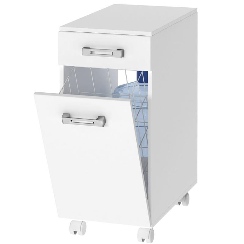 Gabinete ou Armário para Bebedouro de Água com Lixeira - Branco - Multivisão - AS-670-UV-BR