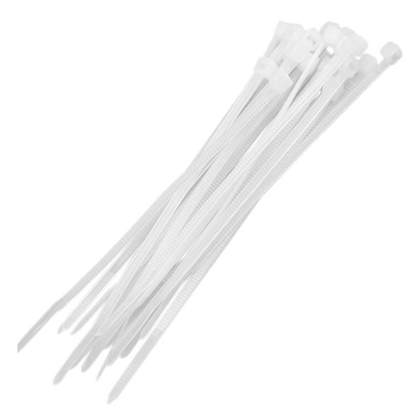 Abraçadeira Plástica Multitoc 3,6 x 200mm Branco MUAB0100 - Pacote com 100 Unidades
