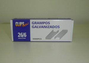 Grampos Galvanizado 26/6 Caixa com 5000 Unidades - Grampos New - 00037