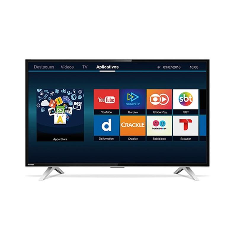 Televisor Smart Toshiba Tela 32 LED HD Digital Wi-Fi 3 HDMI 2 USB - 32L2600