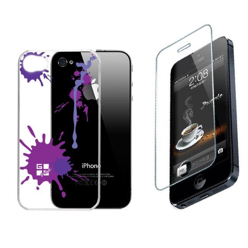 Capa+Película para iPhone 4/4S G-Cube GPPS-4V Acrílico Paint Splash