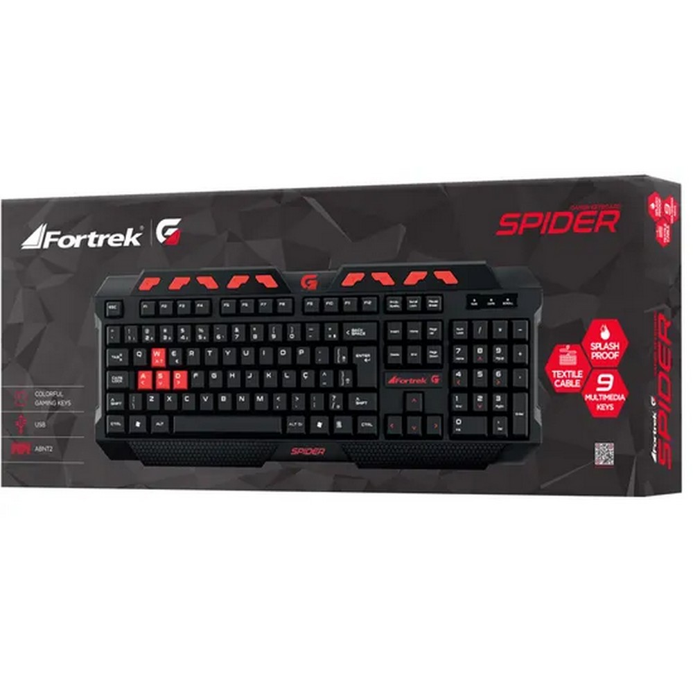 Teclado USB Gamer Fortrek Spider Keyboard GK-704 Preto