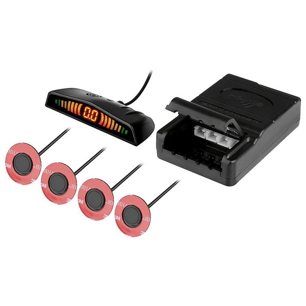Sensor de Estacionamento Embutido 4 Pontos Preto Fosco KX3- KS223A