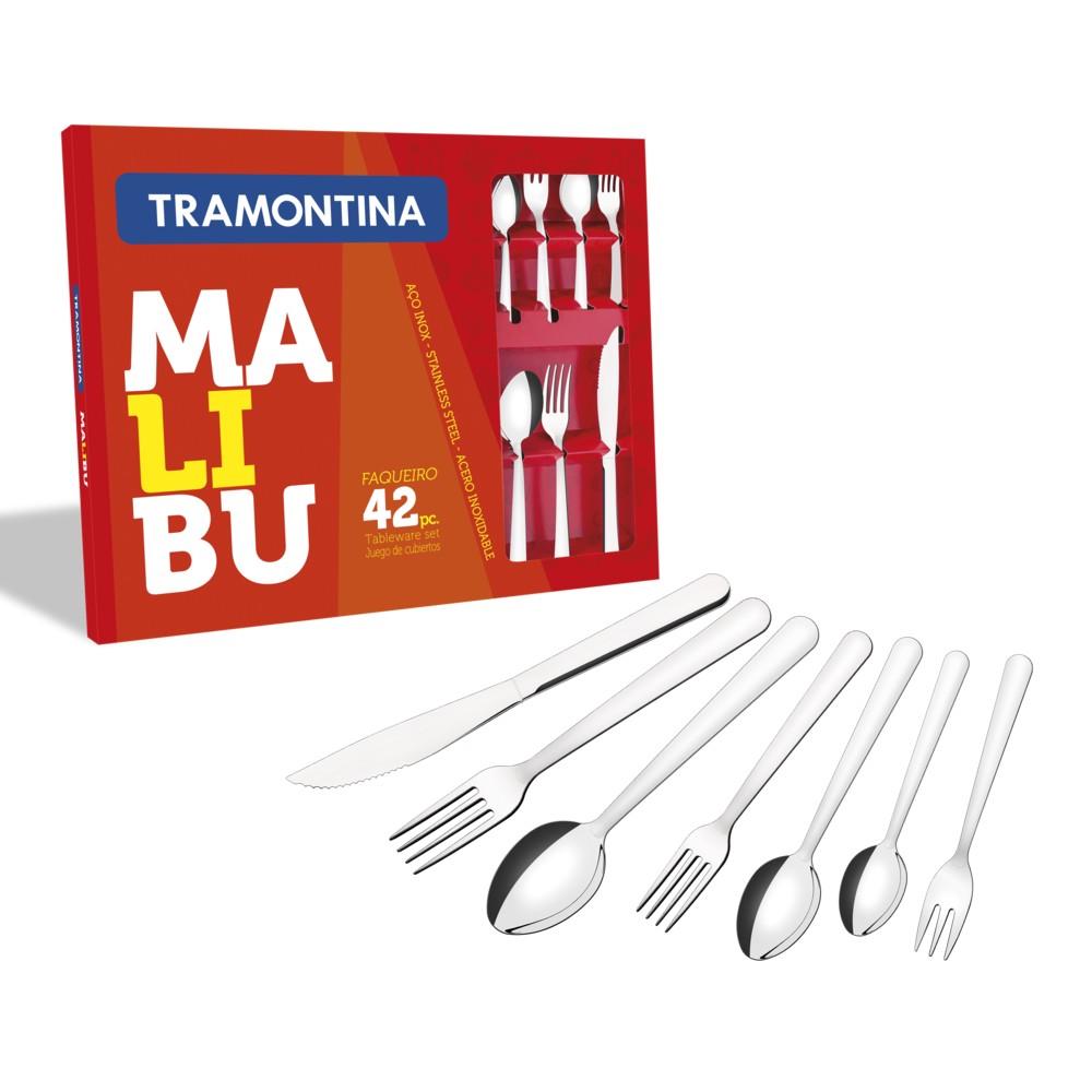 Faqueiro Aço Inox 42 Peças Malibu Tramontina - 23799/039