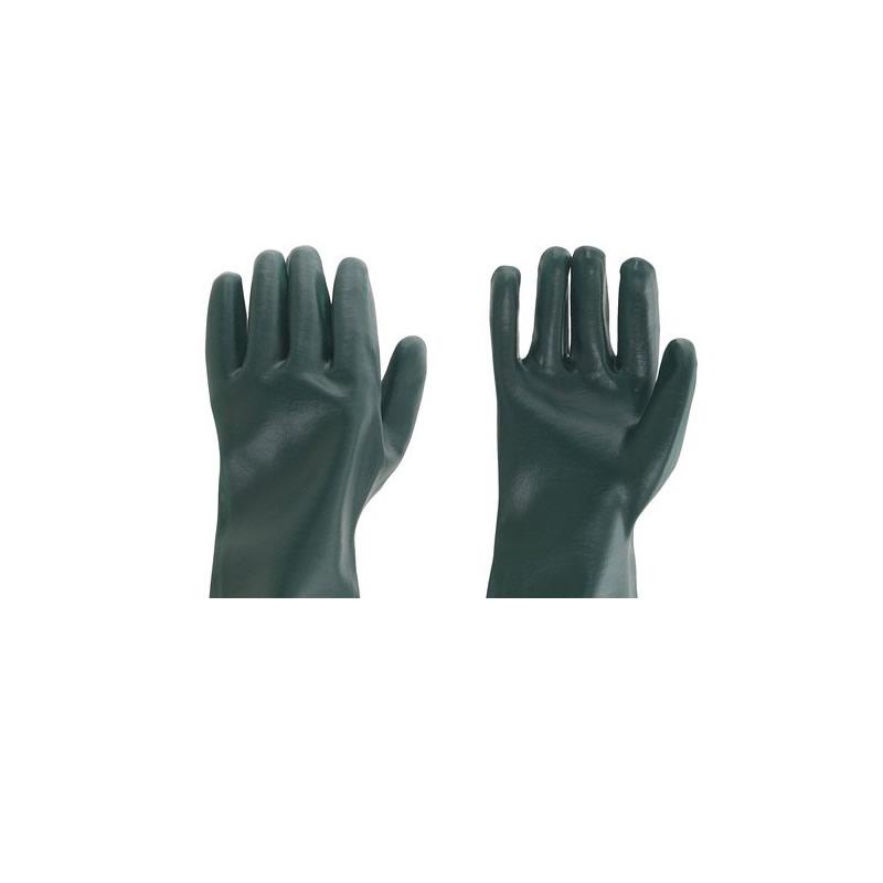 Luvas Multiuso de PVC Liso com Forro 27 Centímetros Verde - Vendido no Par - Vonder - 7027002027