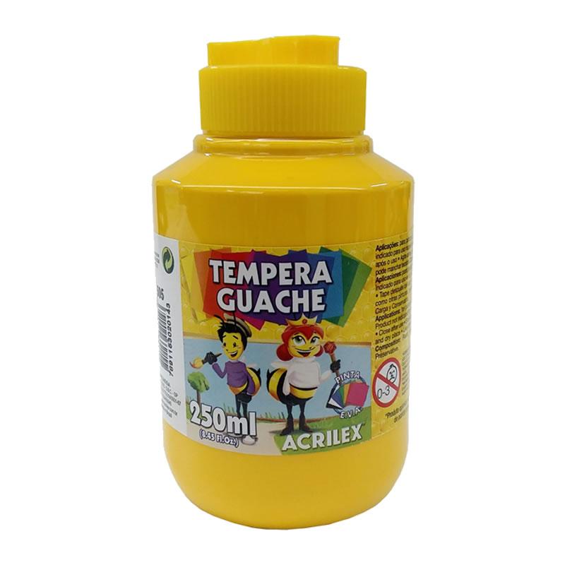 "Tinta Guache 250ML Acrilex Pacote com 6 Unidades Amarelo Ouro - 020250505 - <span id=""variant-title""> - 020250505-MT-01 - </span>"