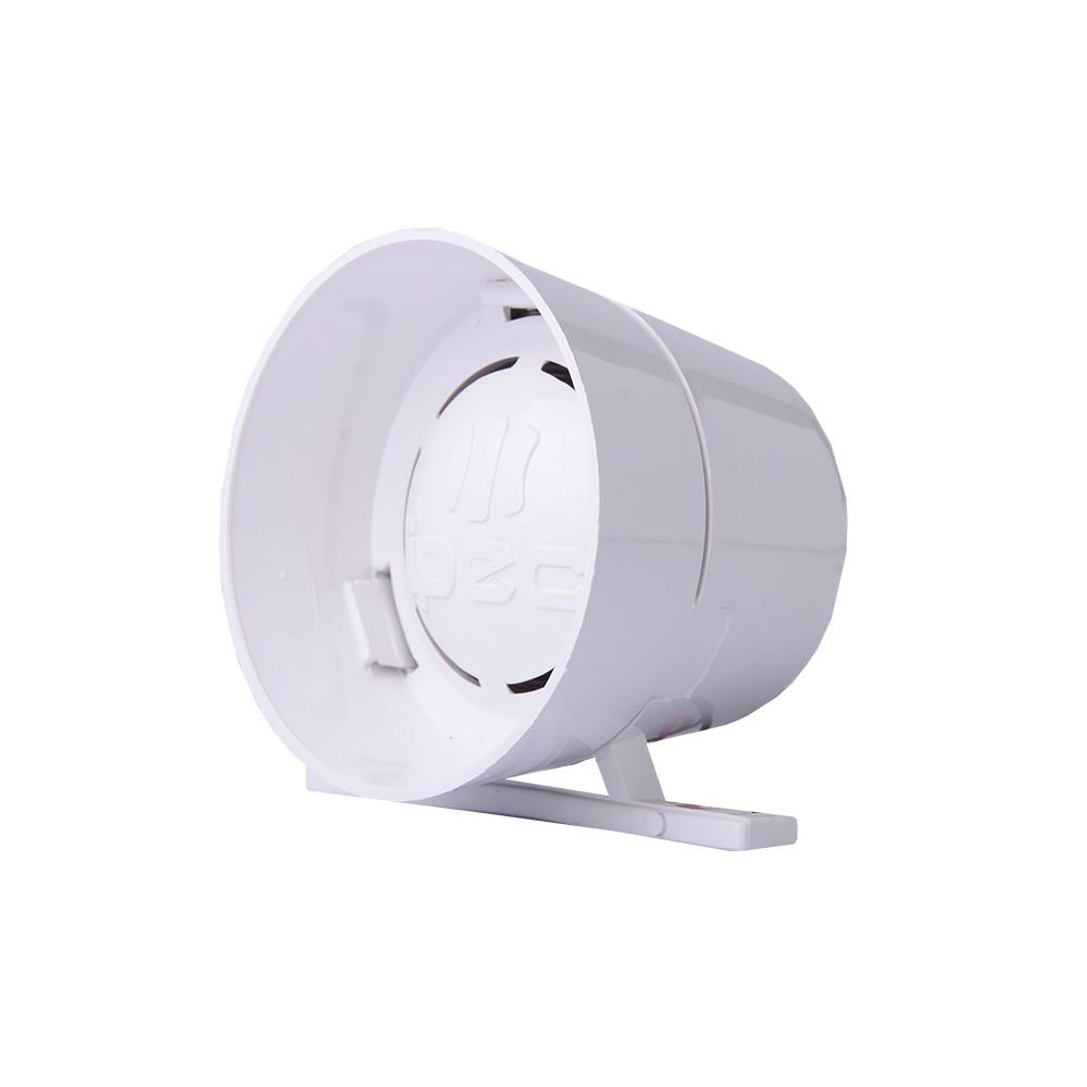 Sirene Compacta de Alta Potência 116dB 12 Volts - 2 Tom Ipec - Branco