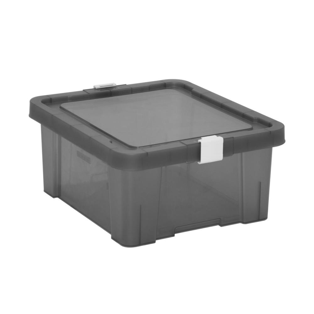 Caixa Organizadora Multiuso 41x35x18cm - 17 litros Fume - Tramontina - 92550012
