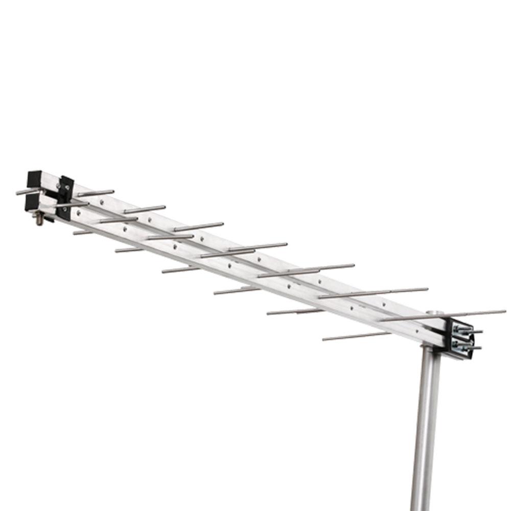 Antena Log Externa para Instalações Coletivas de TV HDTV/UHF 14 Elementos Conector na Frente Aquário - LU-14P