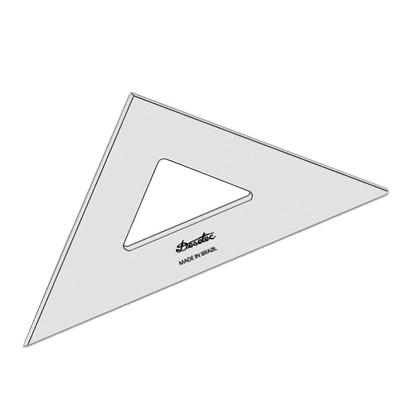 Esquadro Acrílico 26 Centímetros Trident Unitário - 2526