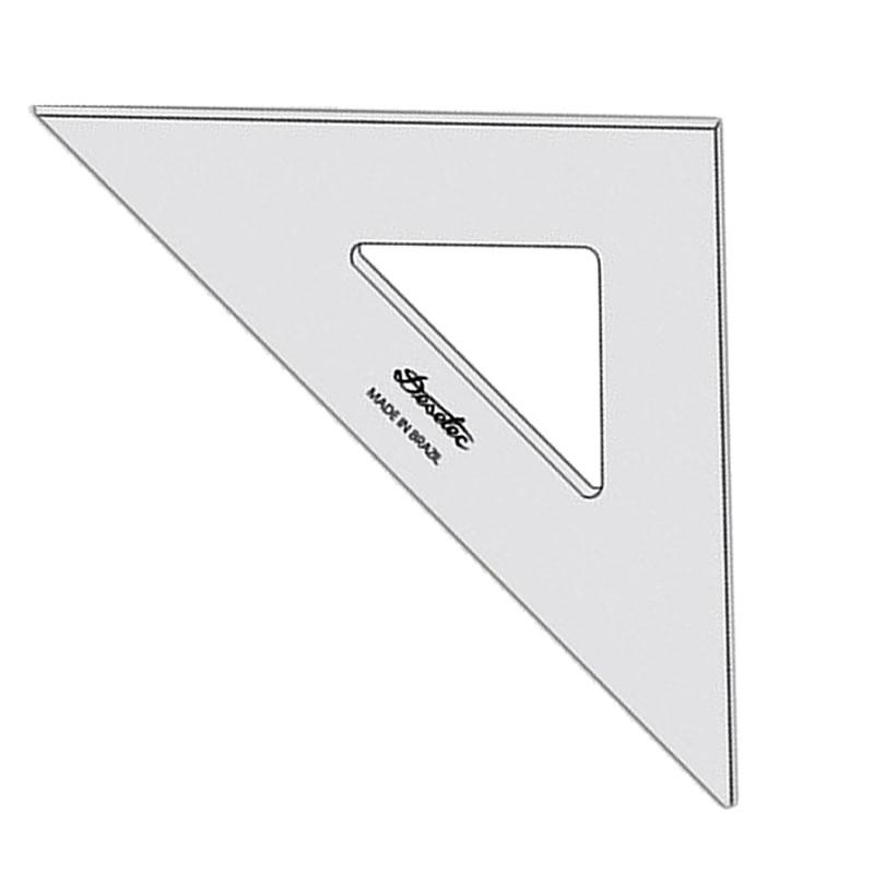 Esquadro Acrílico 28 Centímetros Trident Unitário - 2528