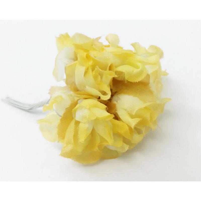 Flor Decorativa Kit Aviamentos Amarelo Claro - Pacote com 144 Unidades - 95723 - AMARELO CLARO