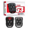 Alarme Automotivo Taramps TW20P G3 com 1 Controle TR1 P (Presença) e 1 Controle TR2 - Anti-Assalto por Botão Secreto e Função Localizador