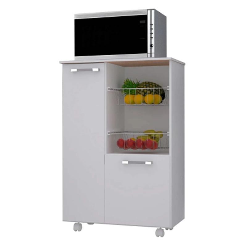Balcão Para Cozinha Com Fruteira Citrius 600 Branco White - 8971493