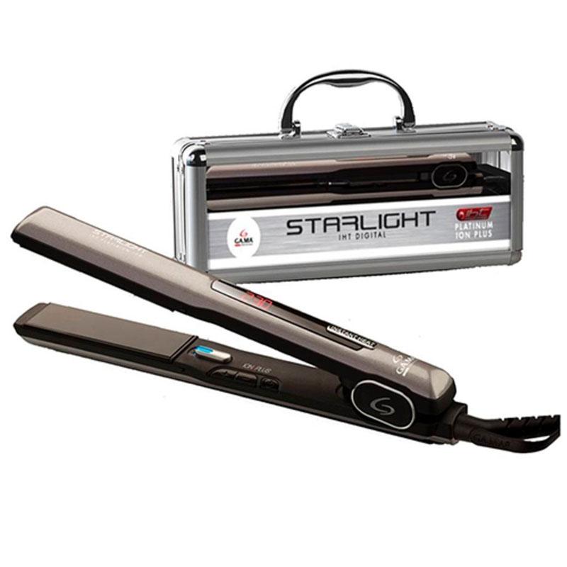 Prancha de Cabelo Chapinha Starlight Platinum Digital íon Plus 230ºc Bivolt Gama - APP2074