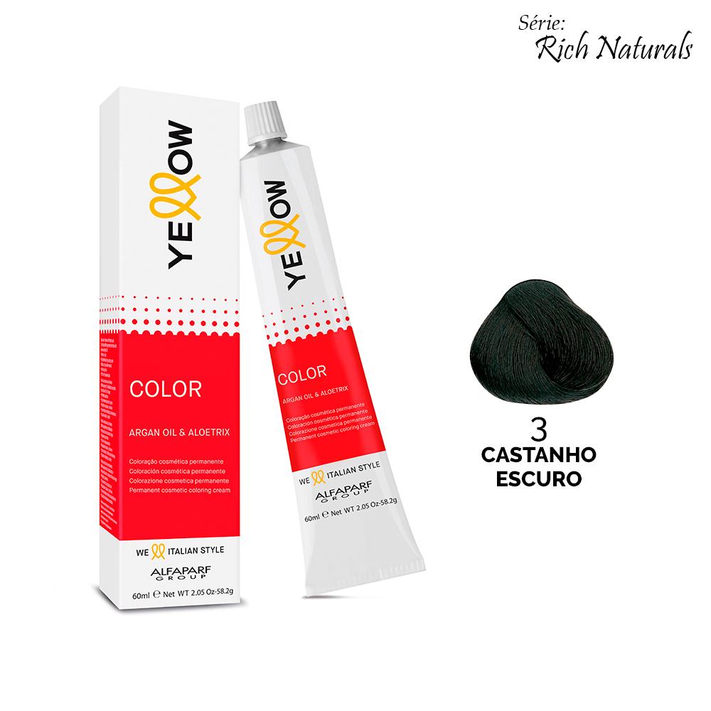 3 CASTANHO ESCURO - Yellow Color Rich Naturals
