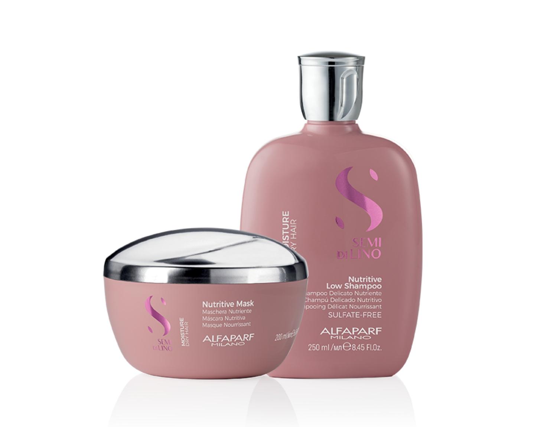 Semi di Lino Moisture Alfaparf - Kit shampoo e mascara