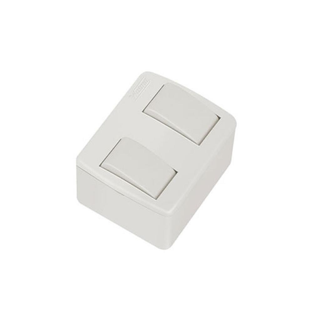 Caixa Sobrepor 2 Interruptores 10A Simples Walma - 7801