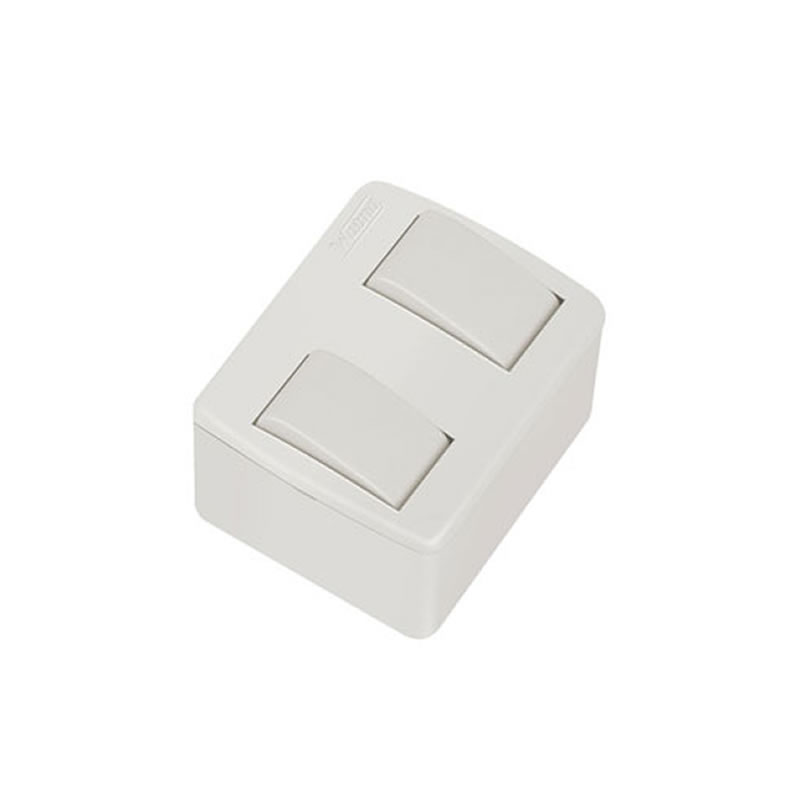 Caixa Sobrepor 2 Interruptores 10A Paralelo Walma - 7802
