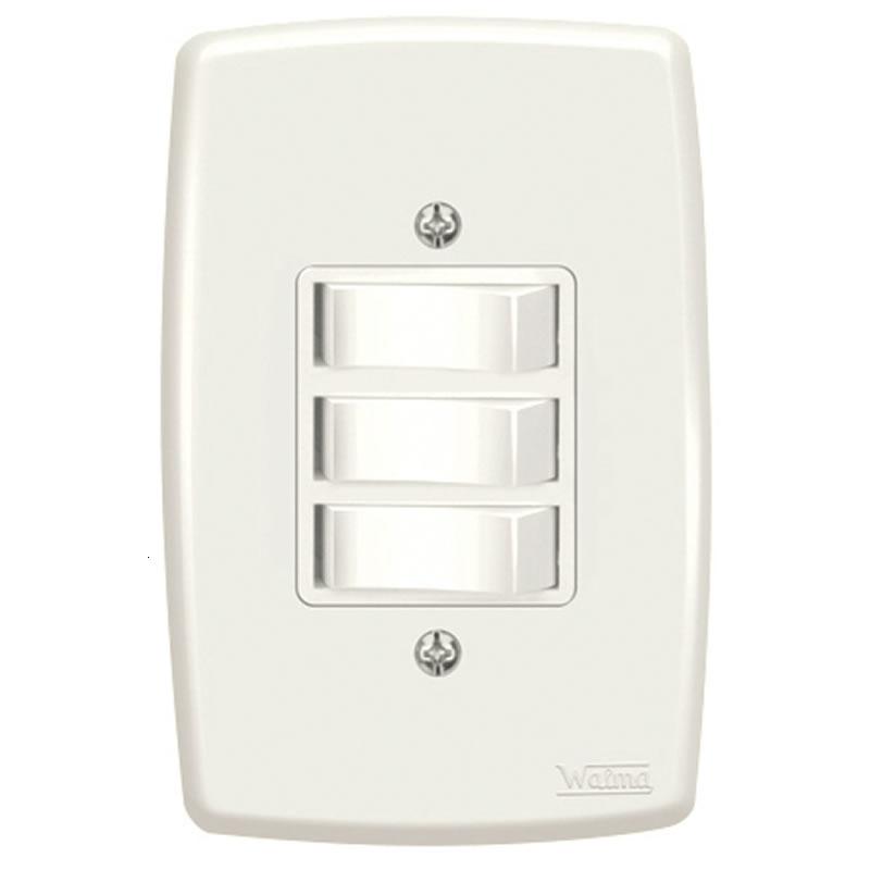 Interruptor 3 Paralelo 10A Walma 2532N com Espelho