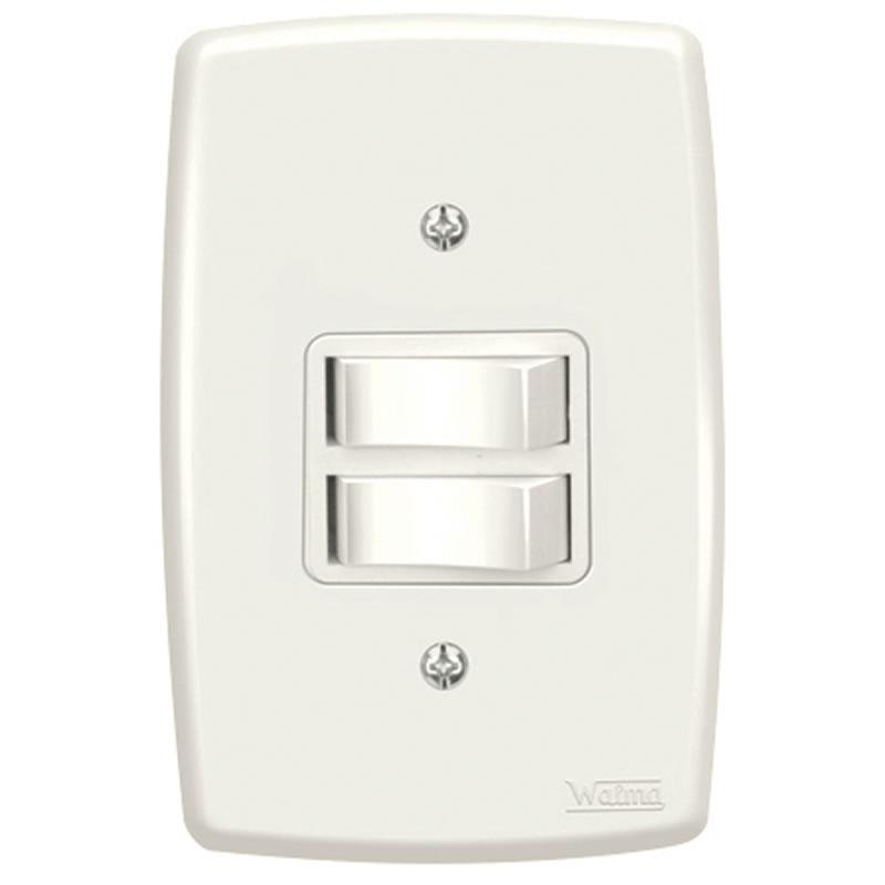 Interruptor 2 Paralelo 10A Walma 2522 com Espelho