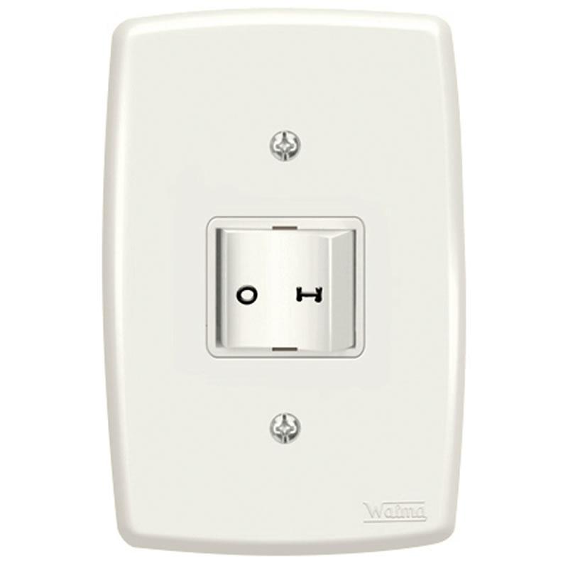 Interruptor Simples 10A Walma 2541-N 1 Bipolar com Espelho