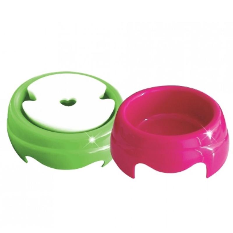 Comedouro e Bebedouro de Plástico para Cachorros de Pelo Longo 1000ml - Furacão Pet - 0615