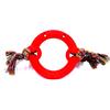 Brinquedo para Cachorros modelo Anel Maciço de Borracha com Cordas - Cores Sortidos - Furacão Pet 667 - 0539 - N2 - TAMANHO MÉDIO
