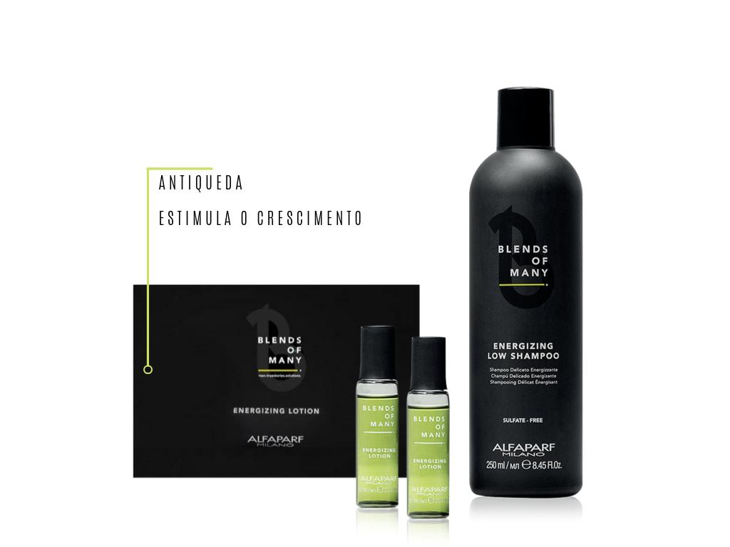 Kit Blends Of Many - Alfaparf Barbearia Ampola + Shampoo Energizante
