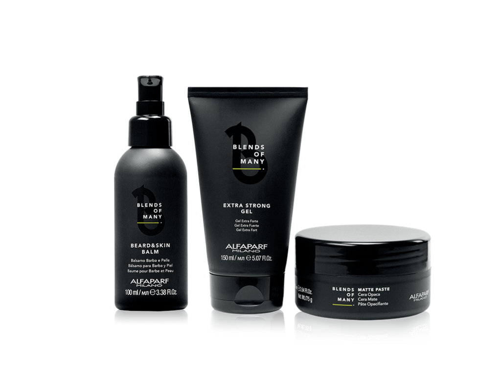 Kit Blends Of Many - Alfaparf Barbearia Balm + Cera + gel