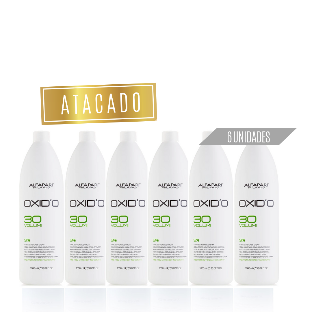 Oxid'o água oxigenada Alfaparf  30 Volumes Atacado (6 unidades)