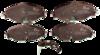 Pastilha de Cerâmica - AUDI A3 - SEAT Novo Leon - VOLKSWAGEN Novo Golf - Dianteira - BF1515-01 - BF1515-01