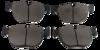 Pastilha de Freio de Cerâmica - BMW 525i / 530i / 540i / 545i / 645i / 745i / M3 / M5 / M6 / X5  - Dianteira - BF1297-00 - BF1297-00