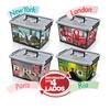 Caixa Organizadora Multiuso de Plástico 44x35x27cm Arqplast para 30 litros - Modelo Várias Cidades - 25241