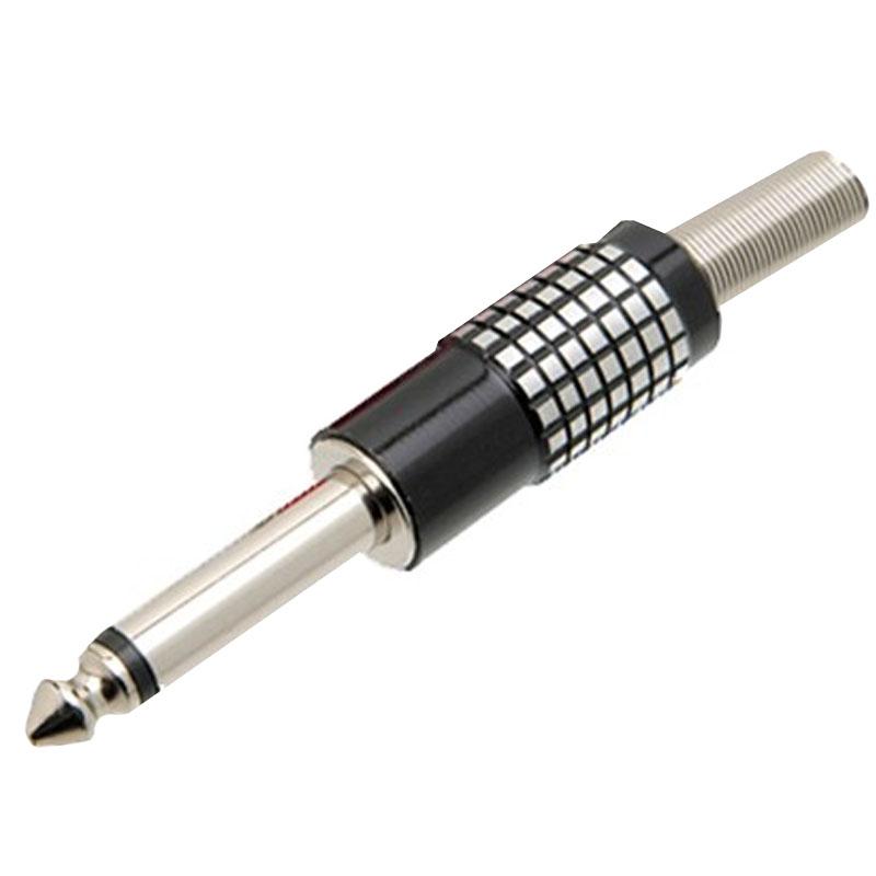 Plug P10 Mono Níquel com Mola Preto Chip Sce Unitário - 062-8520