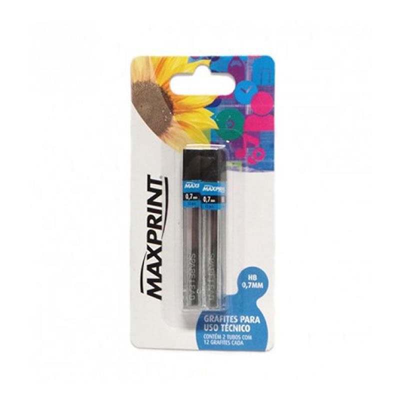 Grafite HB 0,7mm Maxprint Blister com 2 Tubos - 70302-9